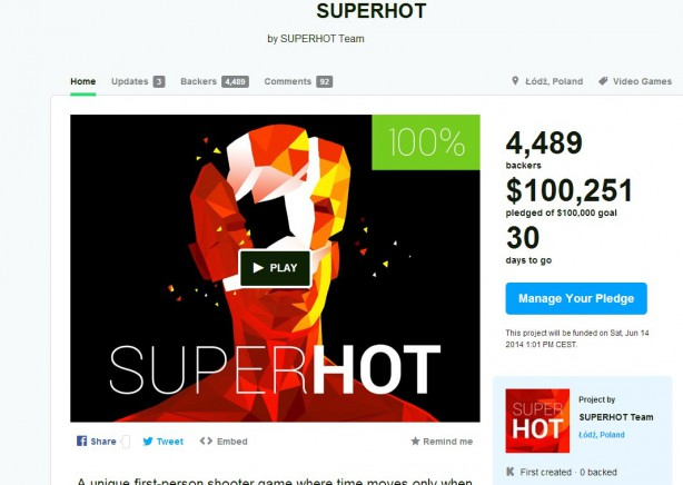superhot kickstarter lodz ggk fps