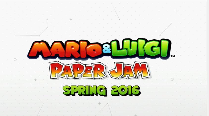 mario & luigi paper jam e3 2015 -GGK