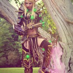 Athariel Cosplay jako Blood Elf Paladin z World of Warcraft