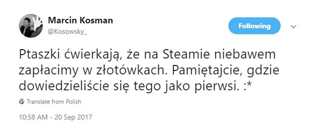 marcin_kosman_steam_zlotowki_twitter
