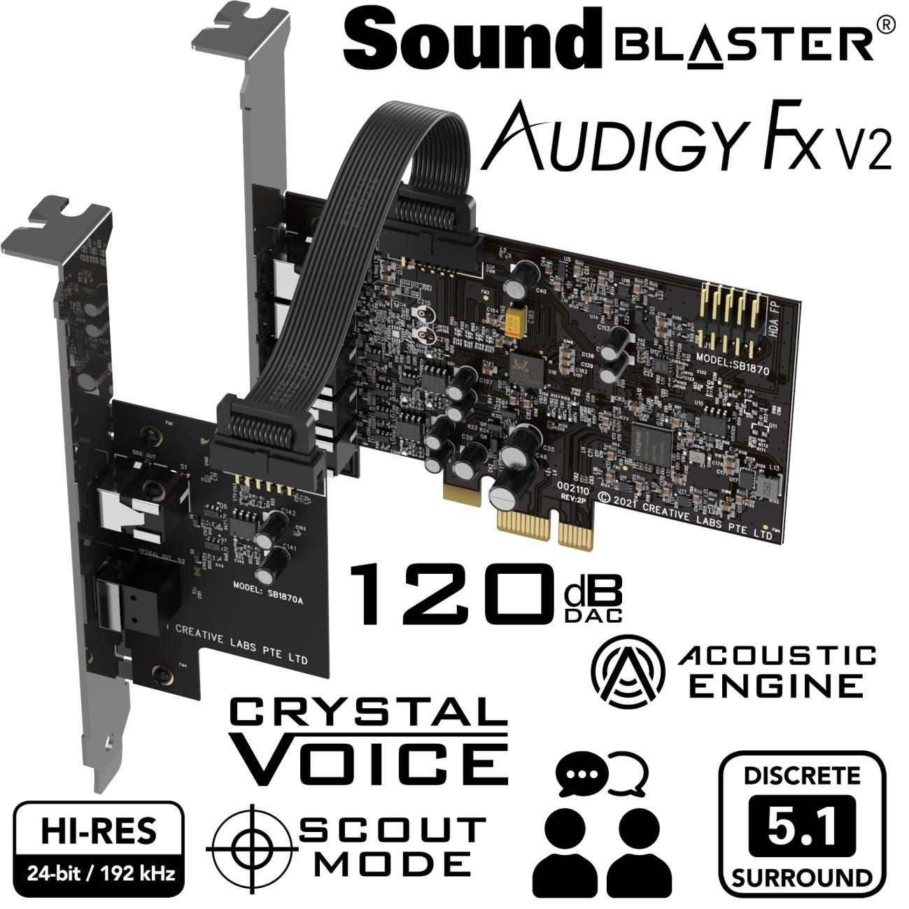 new -Creative- Sound-Blaster- Audigy-FX-V2